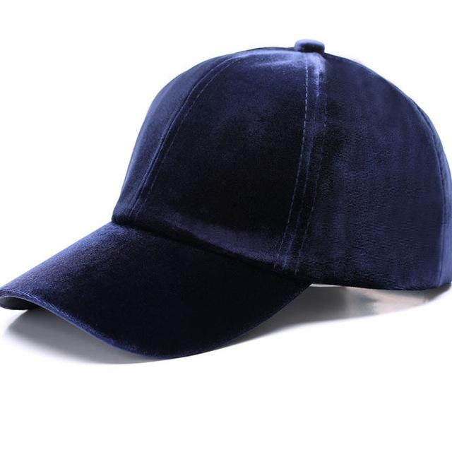 Unisex Velvet Soft Hip Hop Vintage Solid Color Warm Baseball Caps - SolaceConnect.com