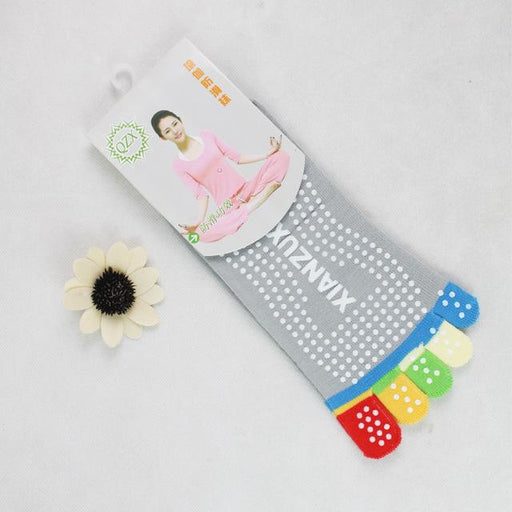 Women's Professional Non-Slip Yoga Massage Socks with Five Finger Toe - SolaceConnect.com
