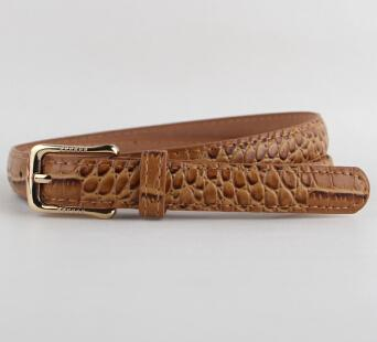 Gold Plated Crocodile Animal Pattern Wide Belt for Women with Pin Buckle - SolaceConnect.com