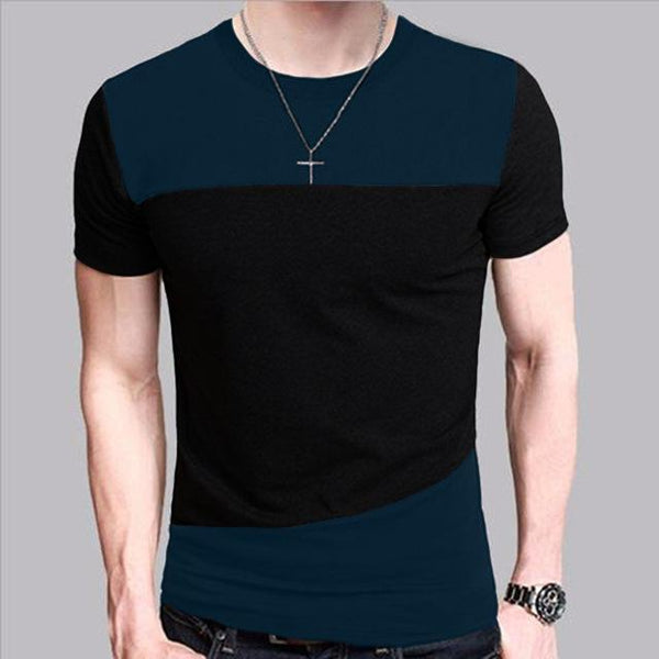 6 Designs Men's Slim Fit Crew Neck Short Sleeve Casual T-Shirt Tee Tops - SolaceConnect.com