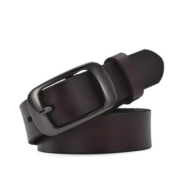 Women's Casual All-Match Brief Genuine Leather Belt in Pure Colors - SolaceConnect.com