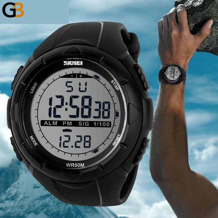 Hot Luxury Men's Sports Watches Dive 50m Digital LED Military Watch - SolaceConnect.com