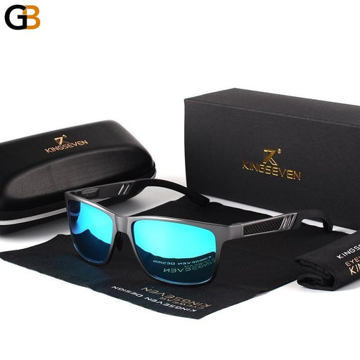 Men's Polarized Aluminum Magnesium Sunglasses in Rectangle Shape - SolaceConnect.com