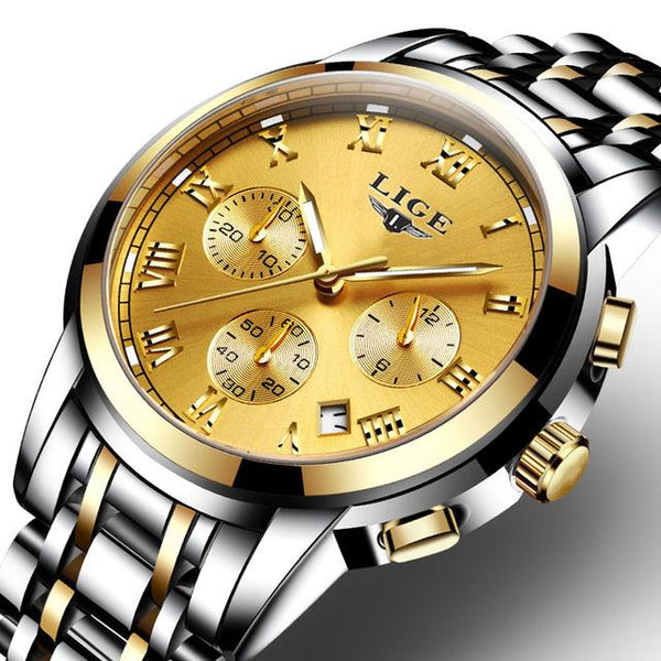 Masculino Top Luxury Business Fashion Quartz Sports Watch for Men - SolaceConnect.com