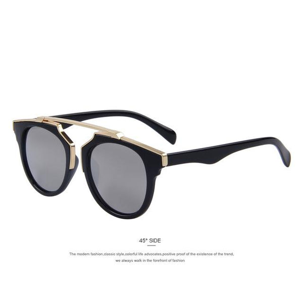 Women's Cat Eye Design Fashion Sunglasses with UV400 Mirror Lenses - SolaceConnect.com