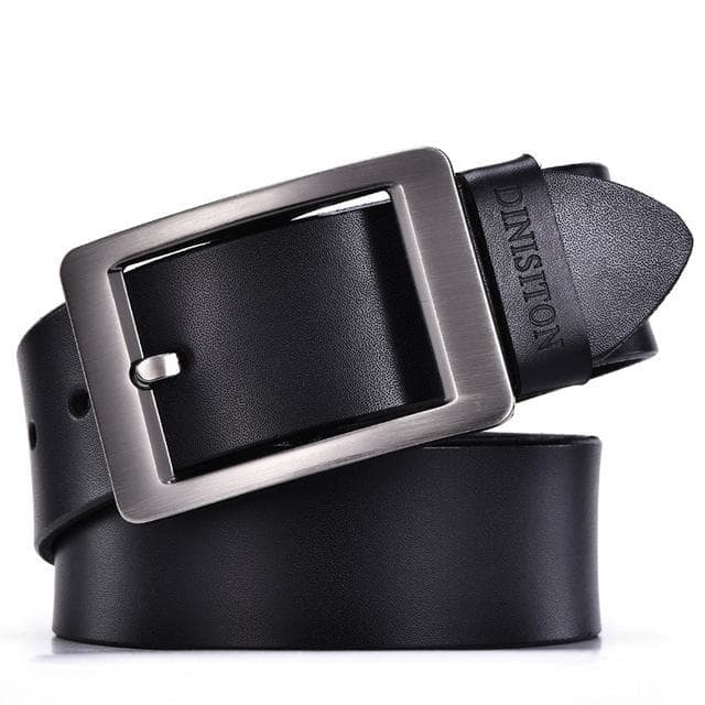Cowhide Genuine Leather Designer Strap Fancy Belts with Pin Buckle for Men - SolaceConnect.com