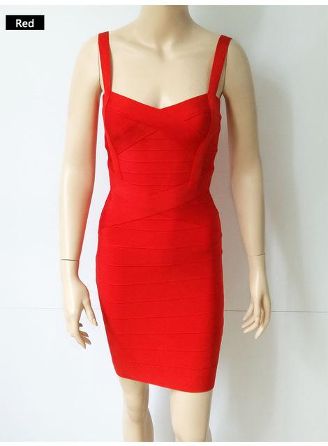 Women Sexy Spaghetti Strap Rayon HL Elastic Celebrity Bandage Dress Bodycon Mini Club Party - SolaceConnect.com