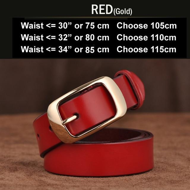 a3d3bb8c2b1fa SAN VITALE Designer Fashion Women s Belts Genuine Leather Brand Straps  Female Waistband Pin - SolaceConnect.