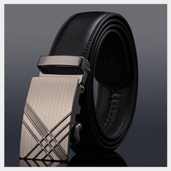 Men's High-Grade Automatic Buckle Leisure Business Style Leather Belt - SolaceConnect.com