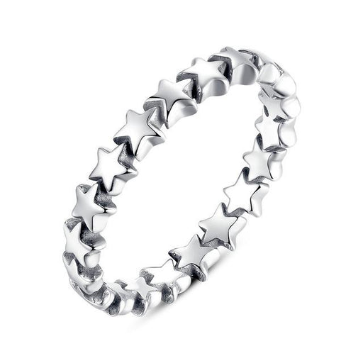 100% Authentic 925 Sterling Silver 6 Style Stackable Party Rings For Women Compatible with - SolaceConnect.com