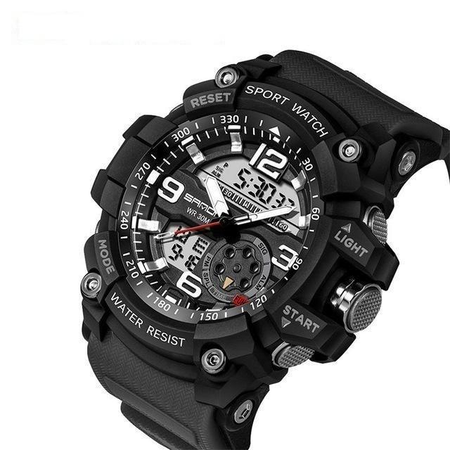 Men's Military Sports Style Electronic LED Digital Watch with Stop Watch - SolaceConnect.com