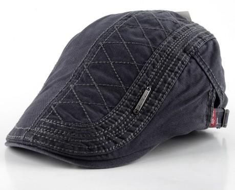 Men's Berets Boina Fashion Hat Masculina Plaid Style Gorro Casual Hats Cotton Boinas Solid - SolaceConnect.com