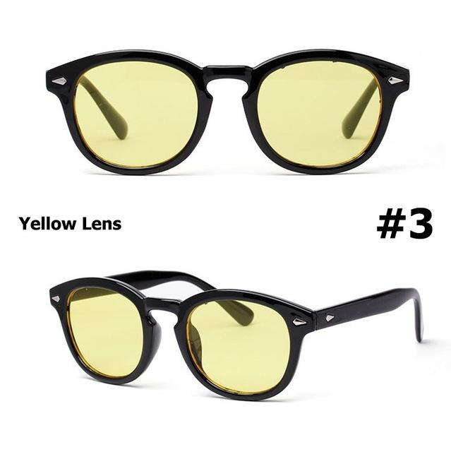 Depp Round Style Tint Ocean Lens Party Design Sunglasses - SolaceConnect.com