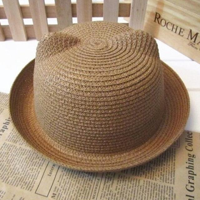 Handmade Cute Summer Straw Cat Ears Headwear Sun Hats for Women - SolaceConnect.com