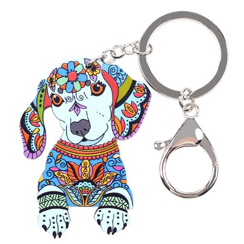 Acrylic Statement Dog Jewelry Key Chain Key Pom Gift for Women & Girl - SolaceConnect.com