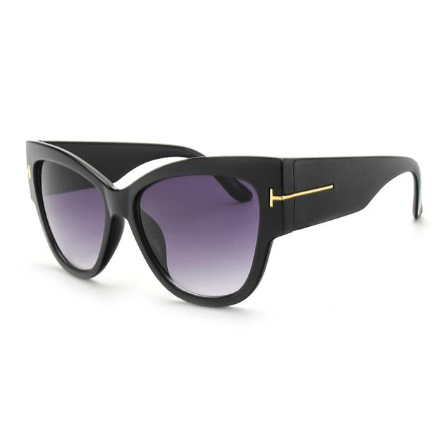 Women's Sexy Cat Eye Oversize Acetate Designer Gradient Lens Sunglasses - SolaceConnect.com