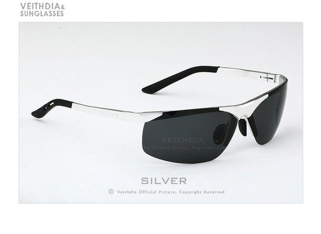 Men's UV400 Mirror Sunglasses with Rimless Rectangle Aluminum Frame - SolaceConnect.com
