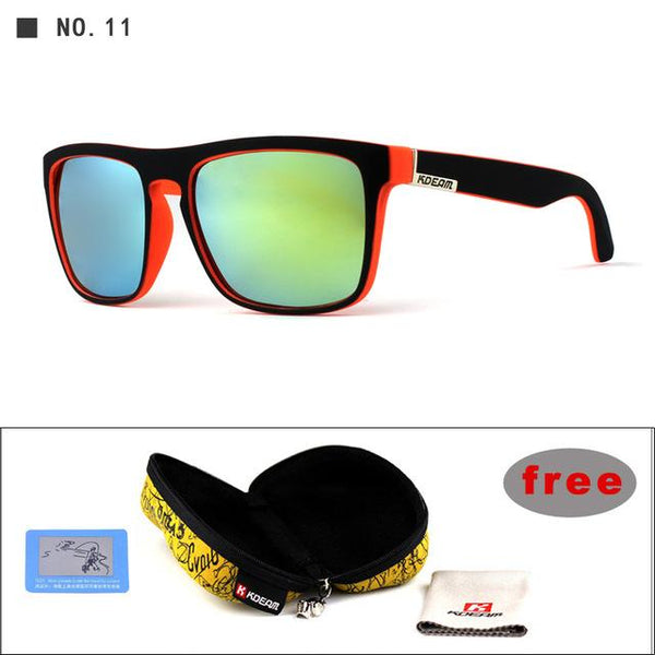 Unisex Mirror Polarized Sunglasses Square Sports Gafas Sunglasses - SolaceConnect.com