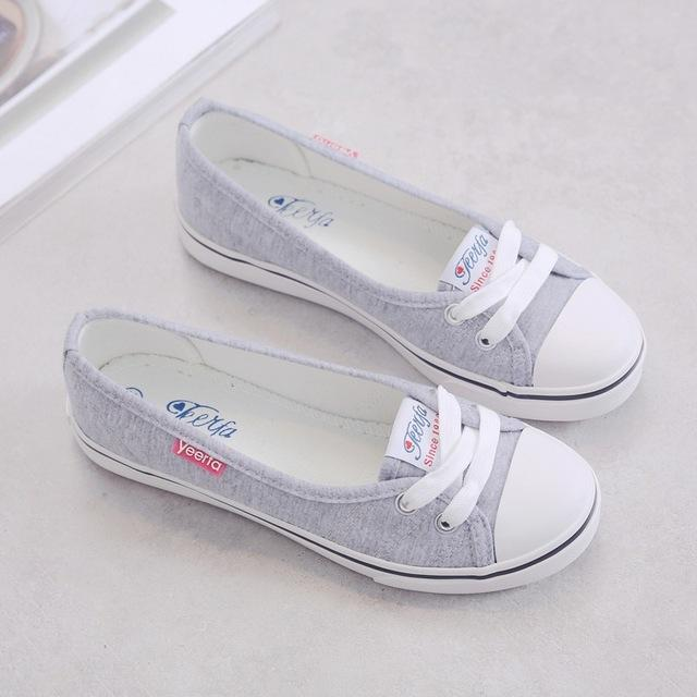 Spring Korean Light Canvas Slip-On Flat Shoes for Women & Students - SolaceConnect.com