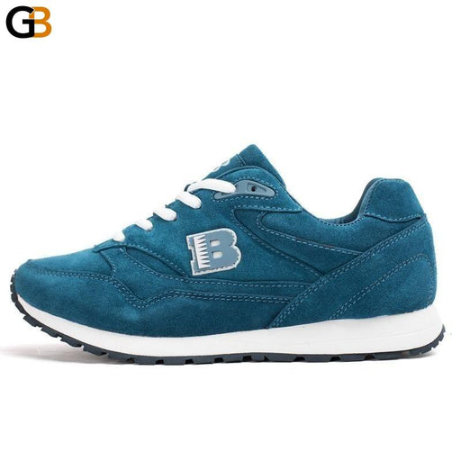 Popular Style Women's Cow Split Breathable Lace Up Light Soft Sport Shoes - SolaceConnect.com