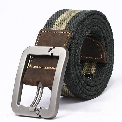 Men Belt Fashion Unisex Army Tactical Waist Belt Jeans Male Casual Luxury Canvas Webbing - SolaceConnect.com