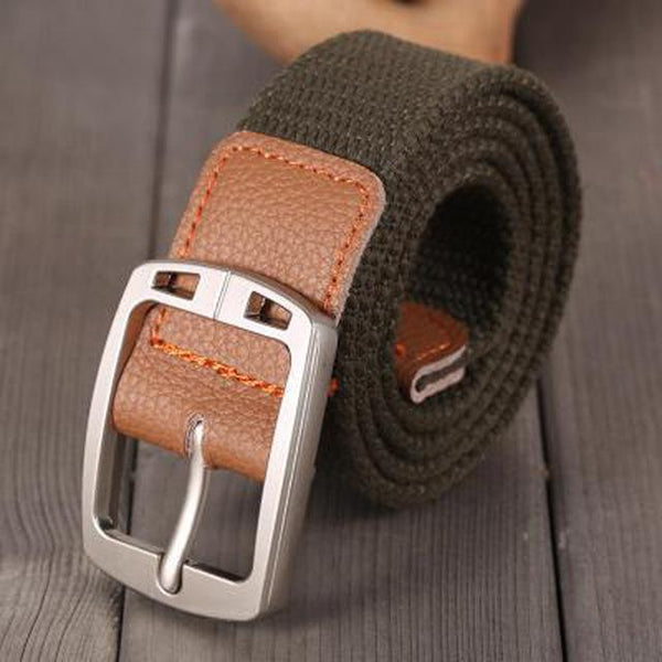 Unisex Army Tactical Fashion Casual Luxury Canvas Webbing Waist Belt - SolaceConnect.com