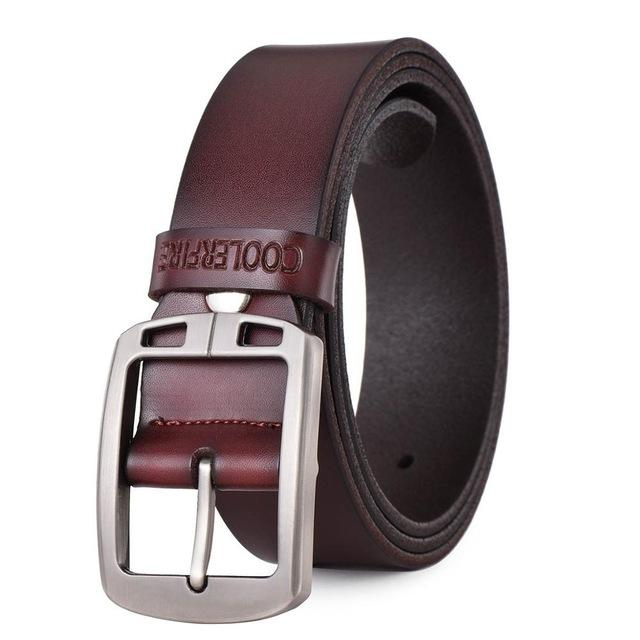 Cowboy Luxury Vintage Style 100% Cowhide Genuine Leather Belts for Men - SolaceConnect.com