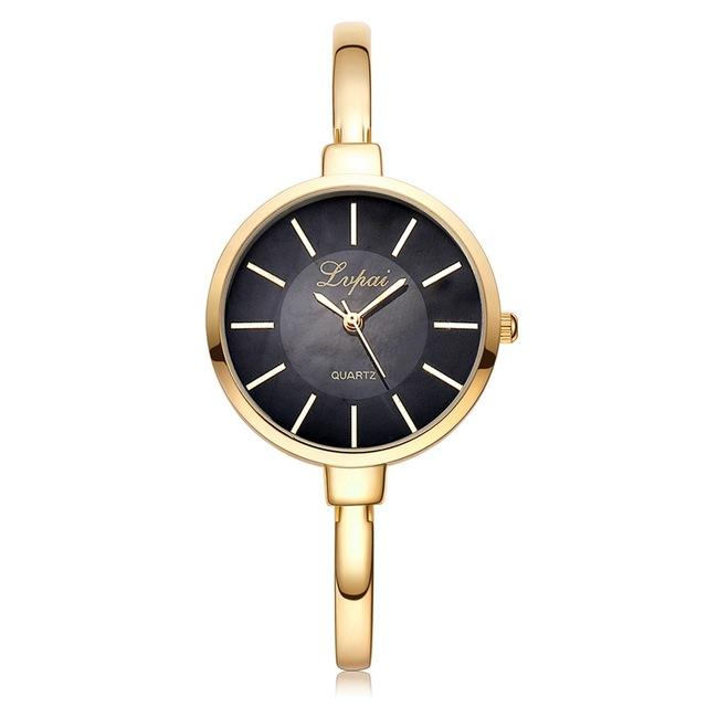 LVPAI Brand Rose Gold Women Bracelet Watches Fashion Luxury Quartz-Watches Ladies Casual Dress Sport - SolaceConnect.com