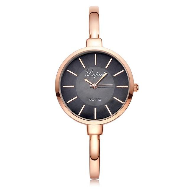 Rose Gold Women's Bracelet Watches for Fashion Luxury Casual Dressing - SolaceConnect.com