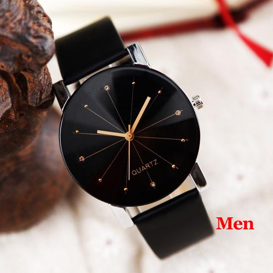 Women Quartz Watches Relogio Masculinos Fashion Dial Time Men Clock Leather Dress Round Case Hour - SolaceConnect.com