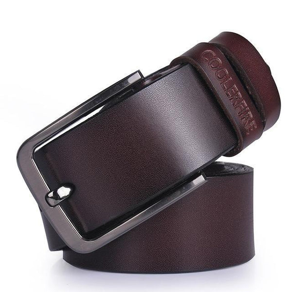 High Quality Genuine Leather Luxury Cowskin Fashion Designer Belts - SolaceConnect.com