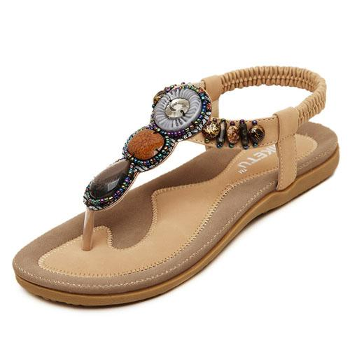 Women's Wild Summer Fashion Bohemian Flat Flip Flops Beach Sandals - SolaceConnect.com