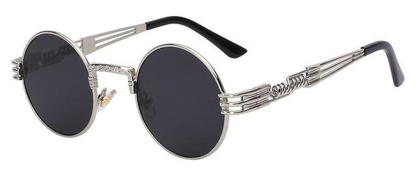 Luxury Metal Sunglasses Men Round Sunglass Steampunk Coating Glasses Vintage Retro Lentes Oculos - SolaceConnect.com