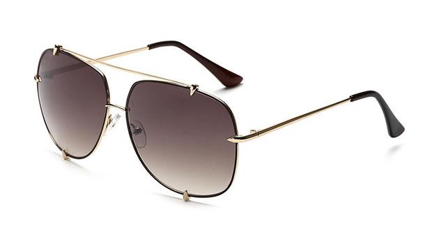 Vintage Pilot Style Oversized Retro Steampunk Sunglasses for Men Women - SolaceConnect.com