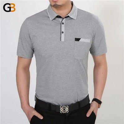 Plus Size Casual Dress Short Sleeve Cotton Men's T-Shirt with Pocket - SolaceConnect.com