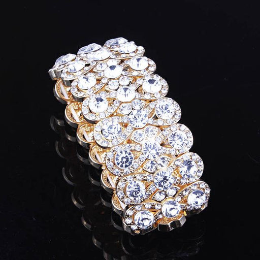 Luxury Full Crystal Rhinestones Gold Color Charm Bracelet for Women - SolaceConnect.com