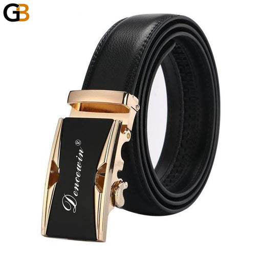 Free shipping men's fashion100% Genuine Leather belts for men High quality metal automatic - SolaceConnect.com