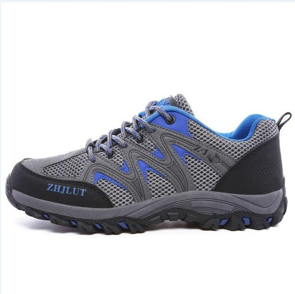 Men's Comfortable Breathable Casual Flats Lace-Up Trainer Shoes - SolaceConnect.com