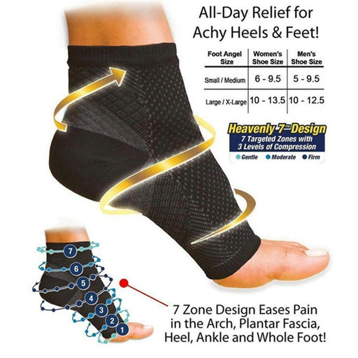 Men & Women Anti Fatigue Compression Foot Sleeve for Varicose - SolaceConnect.com