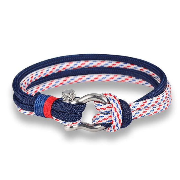 Men's Fashion Jewelry Navy Style Sport Camping Parachute Cord Bracelet - SolaceConnect.com