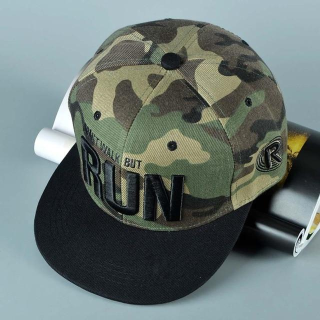 new Runing Letter Snapback Baseball Cap Camouflage Hip Hop Hat For Men Women Street Dance - SolaceConnect.com