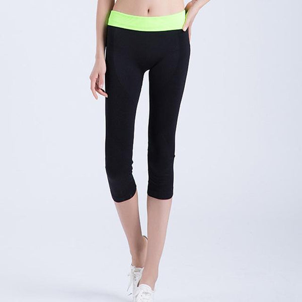 Women's Elastic Quick Dry Tight Yoga Sports Pants for Running & Training - SolaceConnect.com
