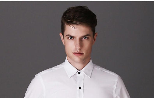 Casual Long Sleeve Business Formal Fashion Masculina Shirt for Men - SolaceConnect.com