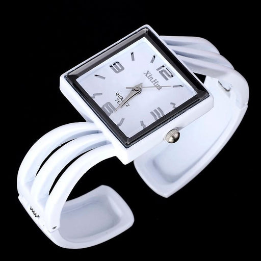 Fashion Full Steel Square Shaped Bracelet Quartz Watch for Women - SolaceConnect.com