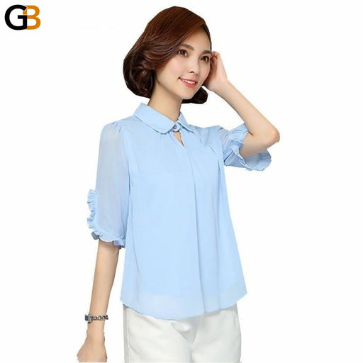 Elegant Casual Loose Work Women's Clothes Chiffon Pink Fashion Dresses - SolaceConnect.com