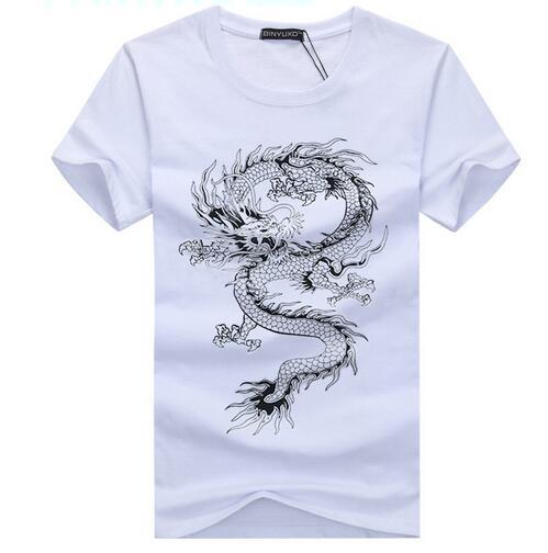 Hot Sale Summer Fashion Novelty Dragon Printing Tattoo T-Shirts for Men - SolaceConnect.com