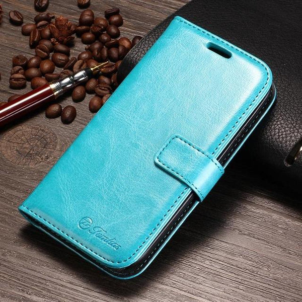 Wallet Style Synthetic Leather Case for Samsung Galaxy S3 I9300 Phone - SolaceConnect.com