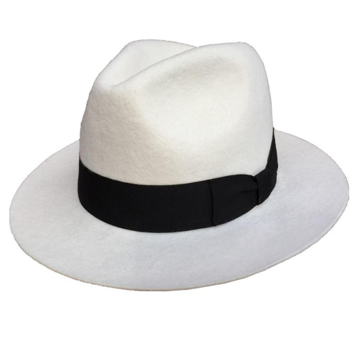 Classic Wool Felt Godfather Gangster Fedora Hat for Men & Women - SolaceConnect.com