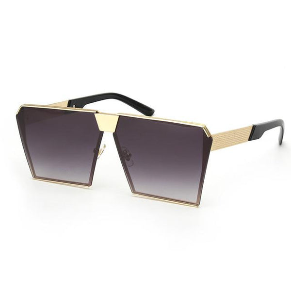 Women's Shield Style Oversized Vintage Sunglasses with Mirror UV400 Lens - SolaceConnect.com
