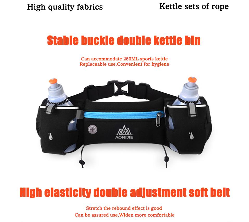 Aonijie Running Waist Pack Outdoor Sports Hiking Racing Gym Fitness Bag Blue Green Lightweight Hydration Belt Water Solaceconnect